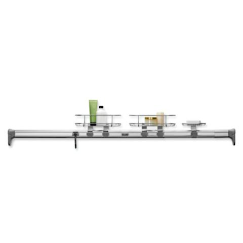 simplehuman® Horizontal Tension Shower Caddy | Frontgate