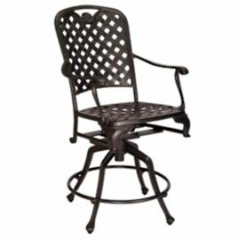 "Provence 24"" Swivel Bar Stool with Cushion"