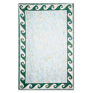 Mosaic Ocean Wave Outdoor Area Rug