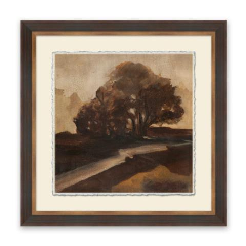 Crackled reminiscent countryside vi wall art