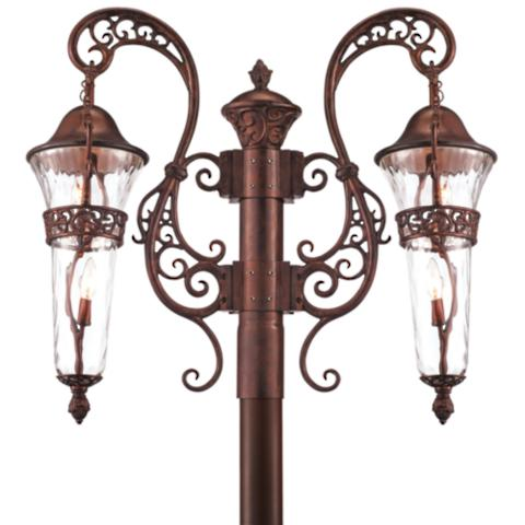 Anastasia outdoor lighting frontgate double post mount workwithnaturefo