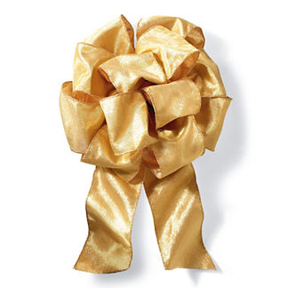 Set of 2 Gold Metallic Pre-made Bows
