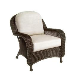 Classic Wicker Lounge Chair With Cushions By Summer Classics