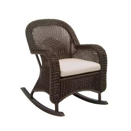 Classic Wicker Plantation Rocker with Cushions by Summer