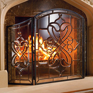 Isla Glass Fireplace Screen
