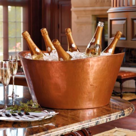 Double Walled Soleil Copper Beverage Tub