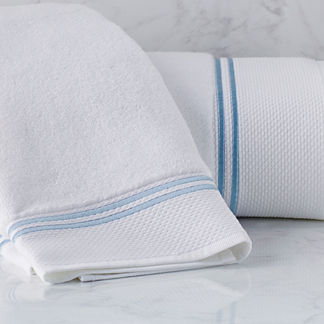 Resort Embroidered Stripe Hand Towel