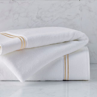 Resort Embroidered Stripe Bath Towel