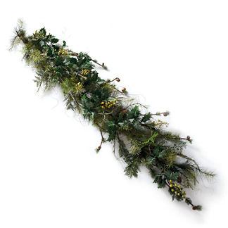 Shenandoah Garland with Green Berries
