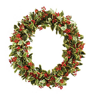 Williamsburg® Bassett Hall Oval Holly Wreath