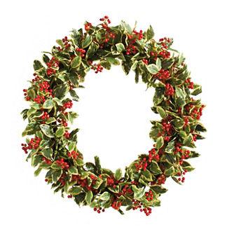 Williamsburg® Bassett Hall Oval Holly Wreath