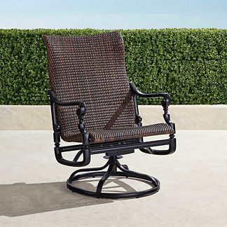 Set of Two Carlisle Woven Swivel Rocker Lounge Chairs