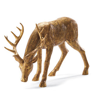 Feeding Antique Gold 4-ft. Stag