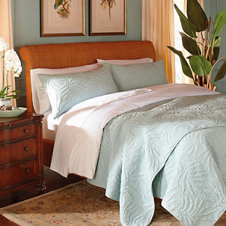 St. Lucia Tropical Leaf Quilt