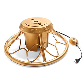 Golden Rotating Tree Stand