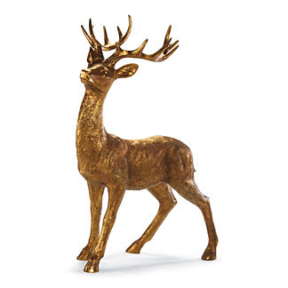 Standing Antique Gold 4-ft. Stag