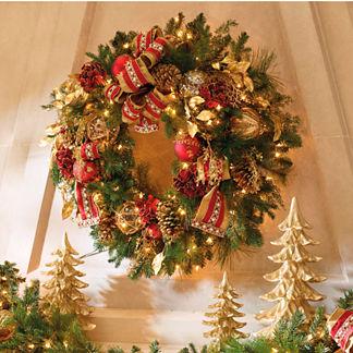 Plaza Pre-lit Wreath