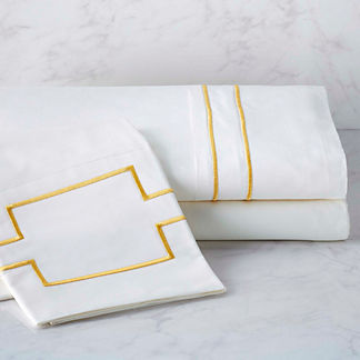 Resort Embroidered Stripe Sheet Set