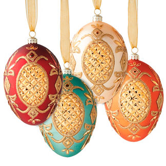 Williamsburg® Set of 4 Regency Egg Ornaments
