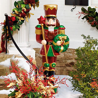 Nutcracker with LED Wreath