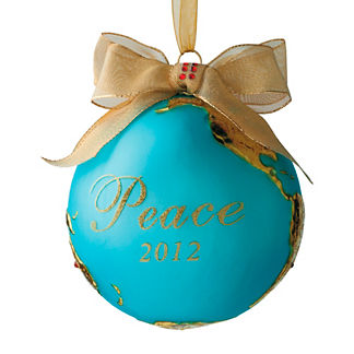 2012 Peace on Earth Crystal-studded Ornament