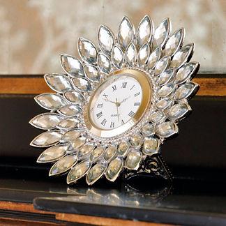 Dahlia Crystal Desk Clock