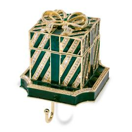 Green Gift Box Stocking Holder