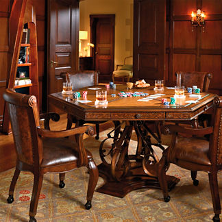 Saratoga Game Table and Four Chairs