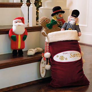 Personalized Santa Gift Bag and Toy Box Set