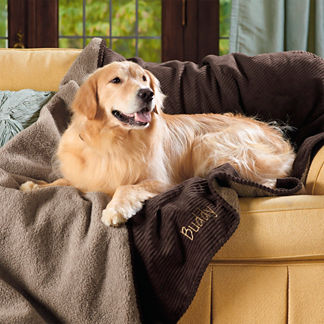 Personalized Reversible Sherpa Pet Throw