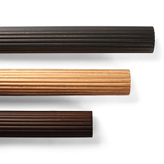 Reeded Wood Curtain Rod