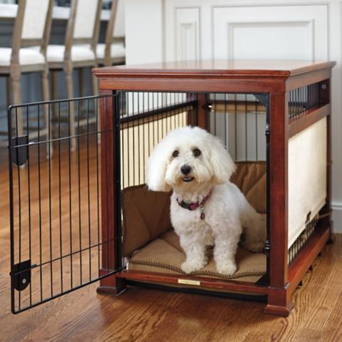 Superbe Luxury Mahogany Pet Residence Dog Crate