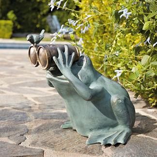 Spectator Frog Statue