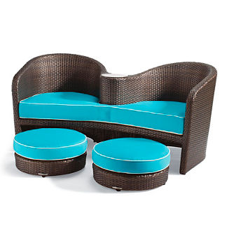 Malibu Lounge and Ottomans