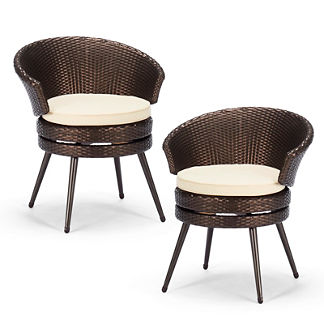 Belize Set of Two Swivel Chairs