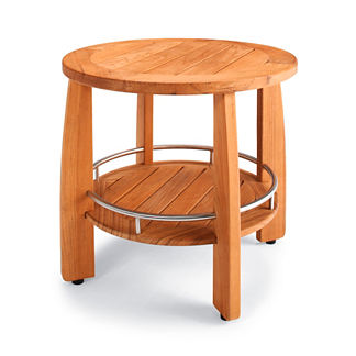 Spa Teak Round Shower Seat