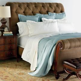 Linville Tufted Sleigh Bed