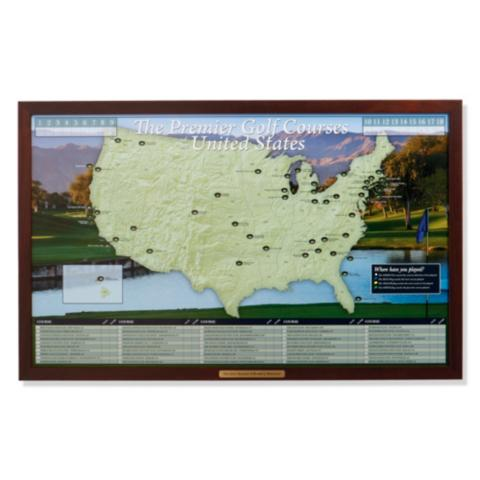 Personalized Usa Map.Personalized Golf Courses Of The Usa Map Frontgate