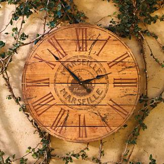 Marseille Cedar Clock