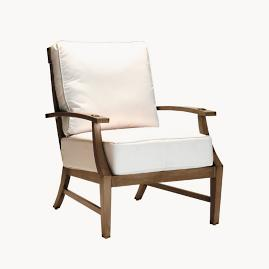 Croquet Aluminum Lounge Chair with Cushions by Summer