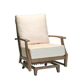 Croquet Aluminum Spring Lounge Chair with Cushions by