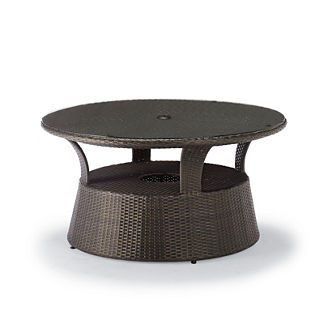Melrose Umbrella Table in Bronze
