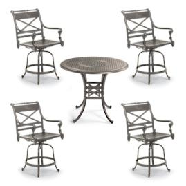 Carlisle Set of Two Swivel Bar Stools in