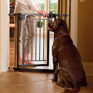 34-inch Extra Wide Tension Mount Pet Gate