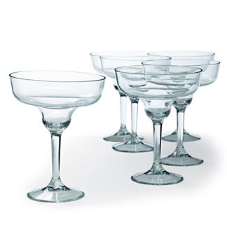 Set of Six Starbase Margarita Glasses