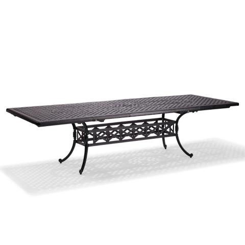 Carlisle Extending Cast Top Dining Table In Onyx Finish