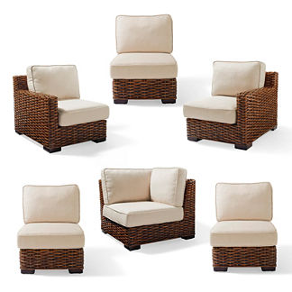Bombay Woven Indoor Seating 6-piece Set