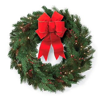 "24"" Winter Pine Cordless Wreath"