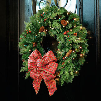 "30"" Winter Pine Cordless Wreath"