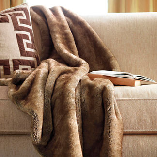 Bear Luxury Faux Fur Throw